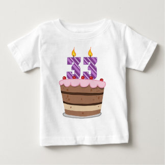 Age 33 on Birthday Cake T Shirt