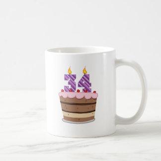 Age 34 on Birthday Cake Coffee Mug