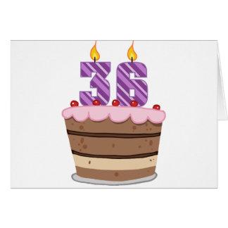 Age 36 on Birthday Cake Card