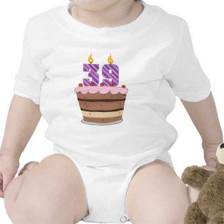 Age 39 on Birthday Cake Baby Bodysuit