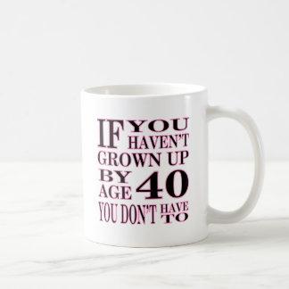 Age 40 coffee mug