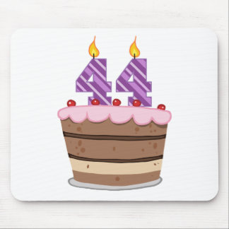Age 44 on Birthday Cake Mouse Pad