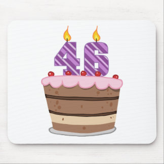 Age 46 on Birthday Cake Mouse Pad