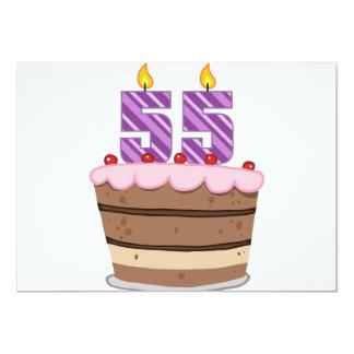 Age 55 on Birthday Cake Card