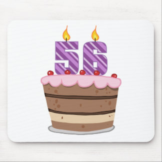 Age 56 on Birthday Cake Mouse Pad