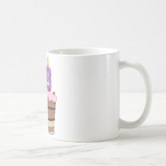 Age 59 on Birthday Cake Classic White Coffee Mug