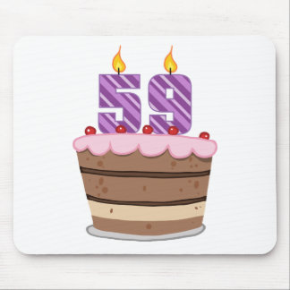 Age 59 on Birthday Cake Mouse Pad
