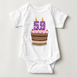 Age 59 on Birthday Cake Tee Shirt