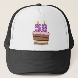 Age 59 on Birthday Cake Trucker Hat