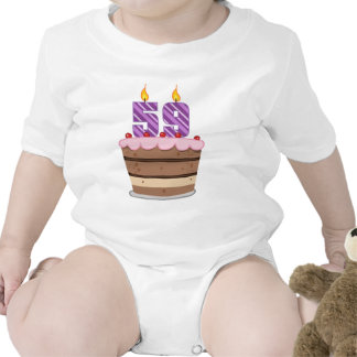 Age 59 on Birthday Cake Rompers