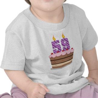 Age 59 on Birthday Cake Shirt