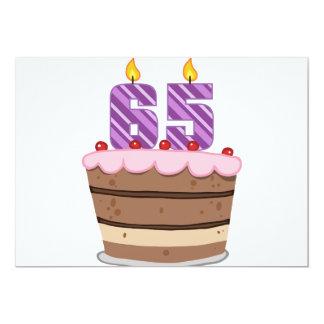 Age 65 on Birthday Cake Card