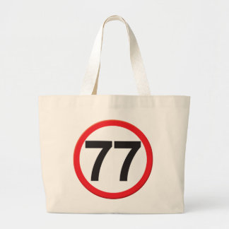 Age 77 tote bags
