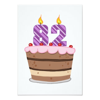 Age 82 on Birthday Cake Card