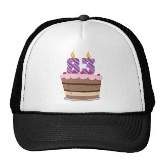 Age 83 on  Birthday Cake Trucker Hat