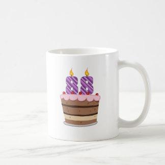 Age 88 on Birthday Cake Classic White Coffee Mug