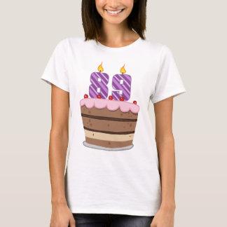 Age 89 on Birthday Cake T-Shirt