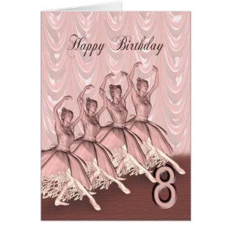 Age 8, a ballerina birthday card
