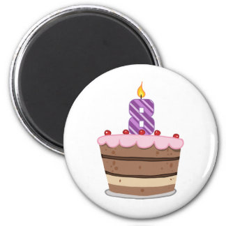 Age 8 on Birthday Cake Magnet