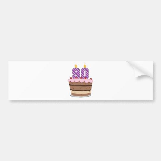 Age 90 on Birthday Cake Bumper Sticker
