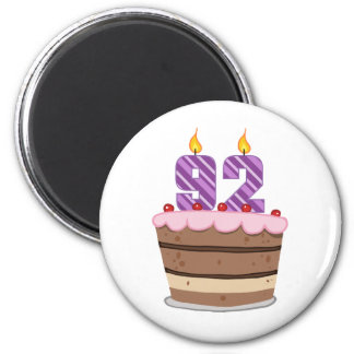 Age 92 on Birthday Cake Magnets