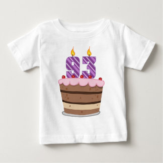 Age 93 on Birthday Cake Baby T-Shirt