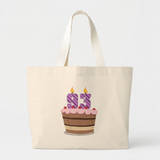 Age 93 on Birthday Cake Jumbo Tote Bag