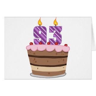 Age 93 on Birthday Cake Card