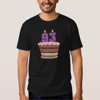 Age 93 on Birthday Cake T-Shirt