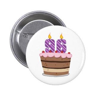 Age 96 on Birthday Cake Button