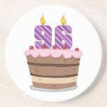 Age 96 on Birthday Cake Drink Coaster