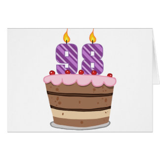 Age 98 on Birthday Cake Card