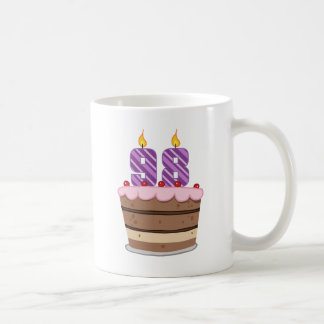 Age 98 on Birthday Cake Coffee Mug