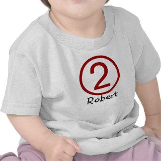 Age and Name  Customizable 2nd Birthday Tshirt