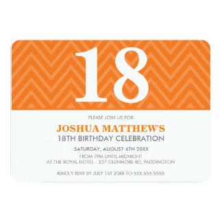 AGE BIRTHDAY PARTY modern simple bold orange Card
