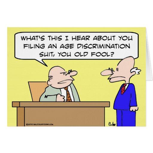 age discrimination suit card