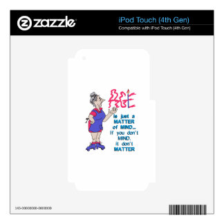 Age dont matter decal for iPod touch 4G