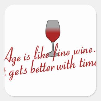 Age Fine Wine Square Sticker
