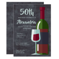 Age Gets Better With Wine Birthday Party (Adults) Card