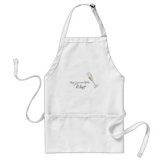 Age Improves With Wine Adult Apron