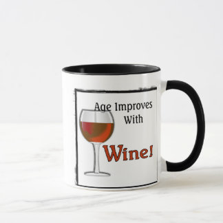 Age Improves With Wine (Red) Mug