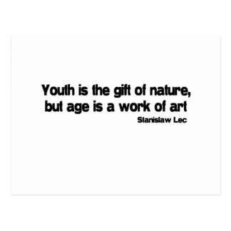 Age Is A Work Of Art quote Postcard