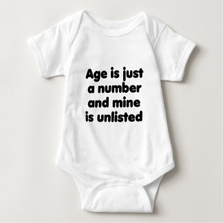 Age is Just a Number Baby Bodysuit