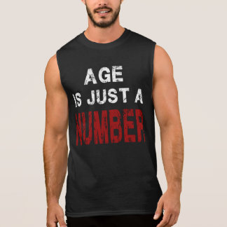 Age is just a number gym motivation t-shirt