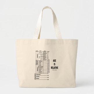 Age Is Relative (Geological Time Humor) Large Tote Bag