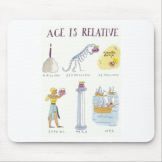Age Is Relative Mouse Pad