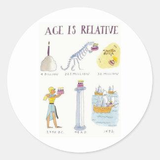 Age Is Relative Sticker