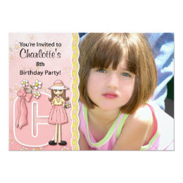 """Age & Name Specific """"C"""" Birthday Party Invitation"""