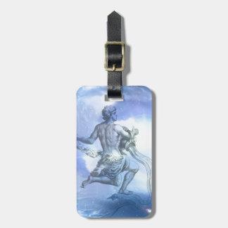 Age of Aquarius Zodiac Bag Tag