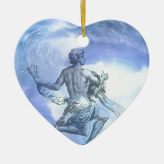 Age of Aquarius Zodiac Ceramic Ornament